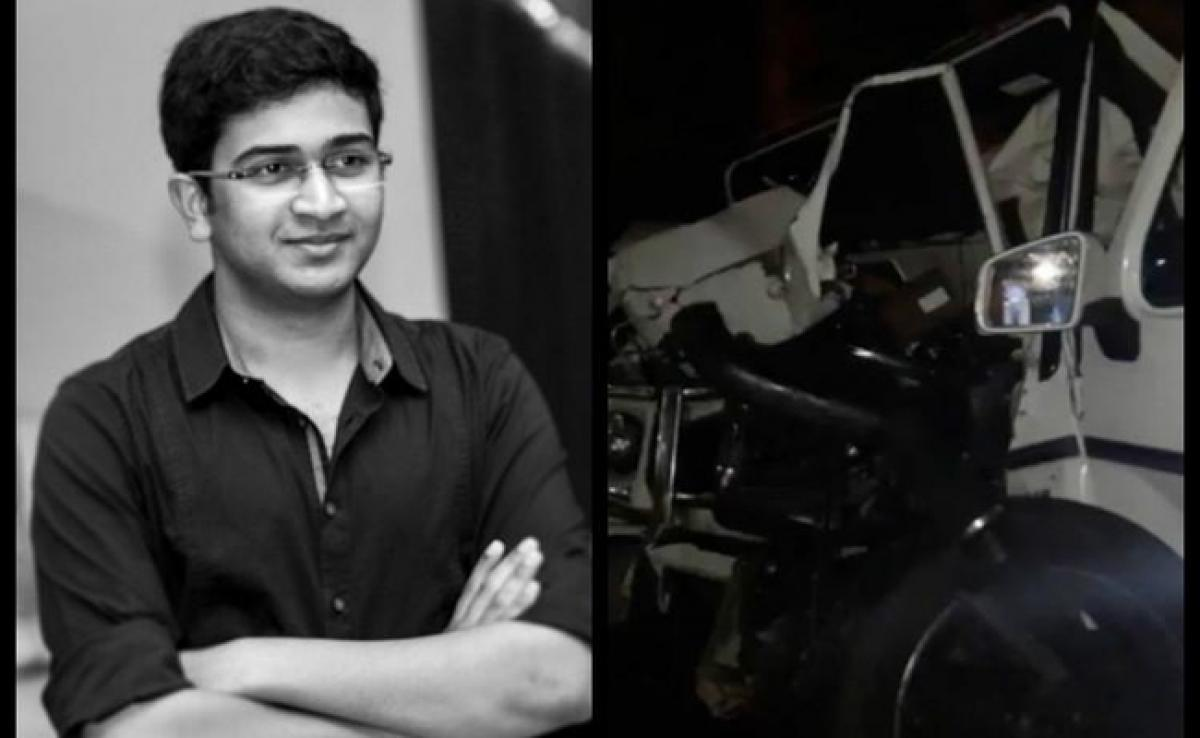 Andhra ministers son dies in Hyderabad road accident