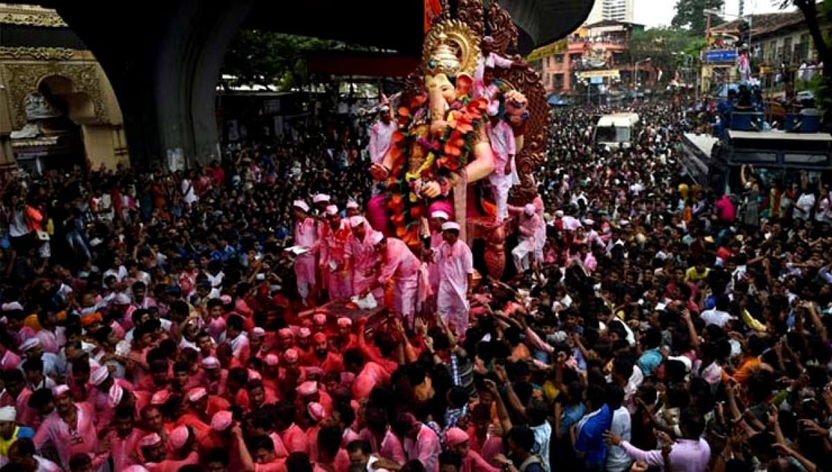 Lord Ganesh bid adieu by millions in Maharashtra