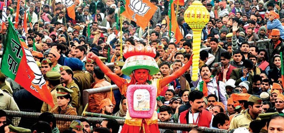 BJP may lead UP, U'khand & Goa, lose Punjab