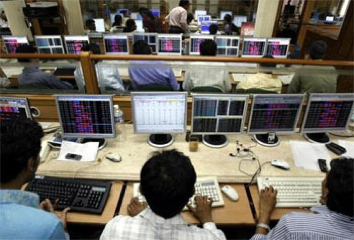 Market trades in red ahead of expiry