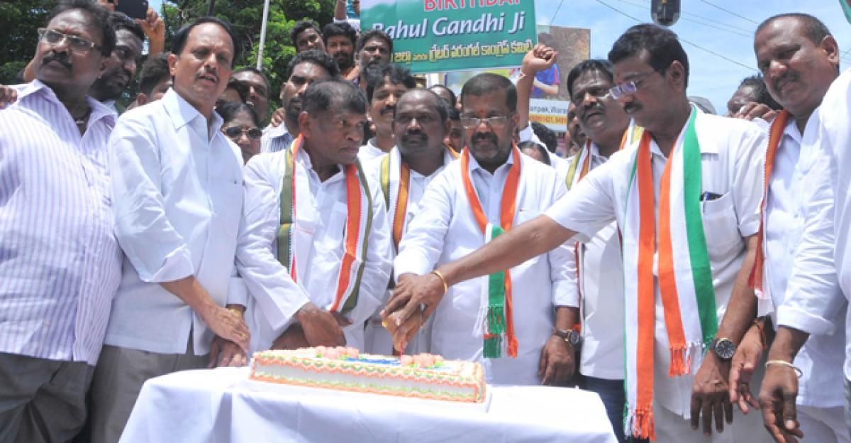 Jubilant celebrations mark Rahul's birthday