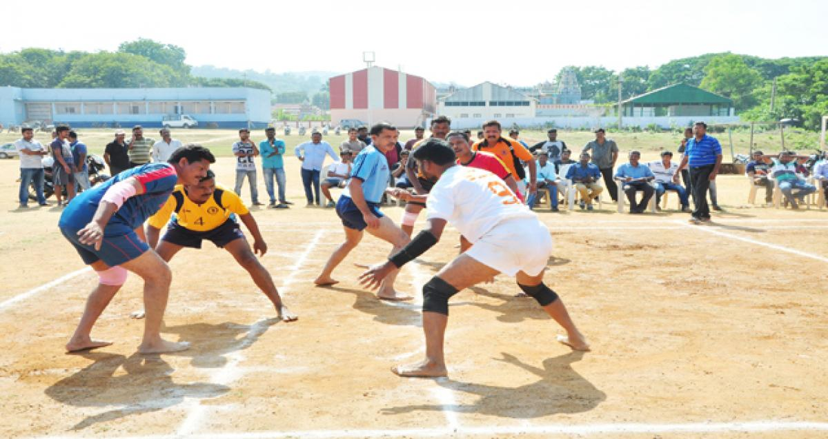 Sports tournaments held at SCCL, Manuguru