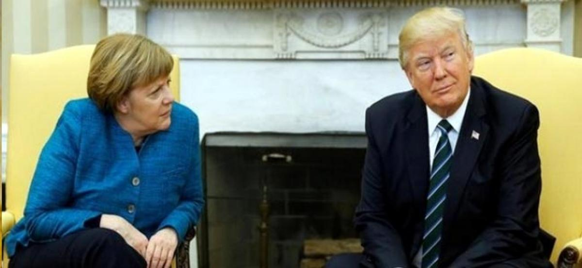 Did not ignore Merkel, I really like her: Trump on awkward photo-op with German Chancellor