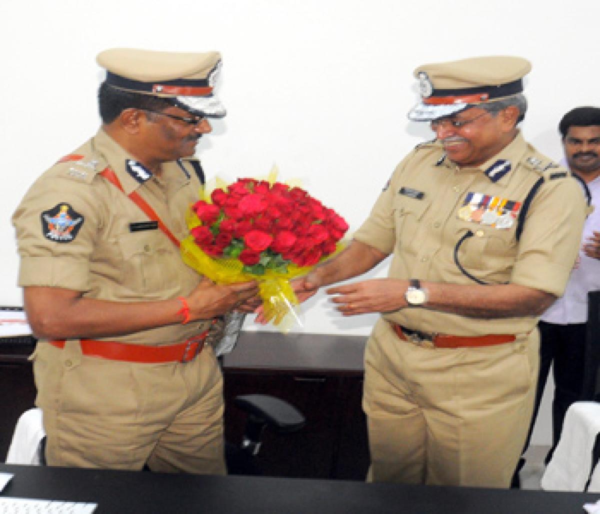 Sambasiva Rao assumes charge as new AP DGP
