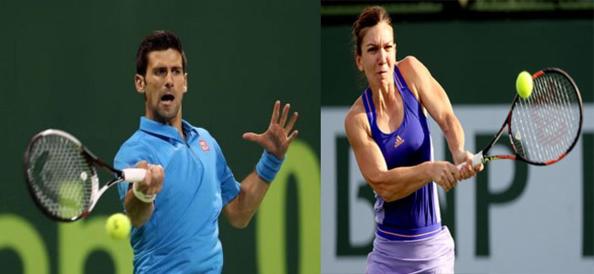 Novak Djokovic,  Simona Halep win