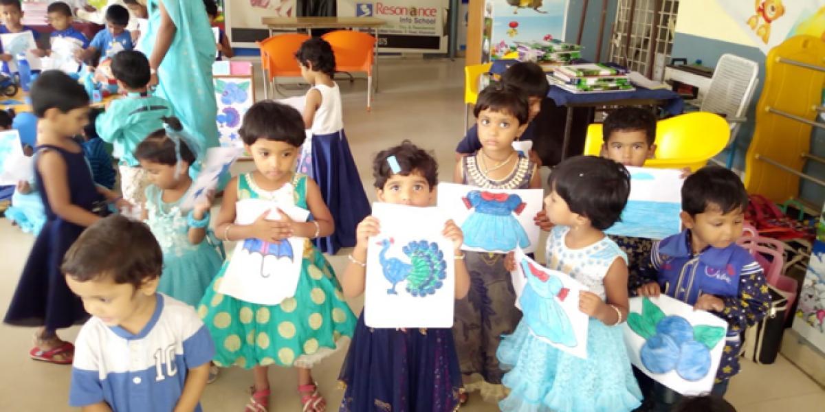 Blue Day celebrations held in Resonance School
