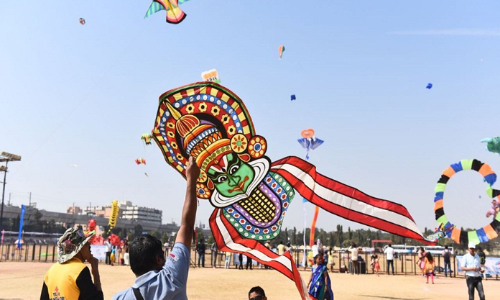 Markets, streets flooded with colourful kites