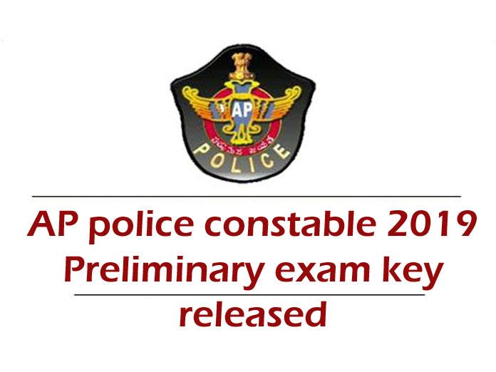 AP police constable 2019 preliminary exam key released