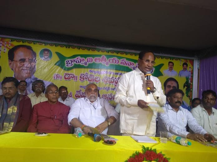 Brahmins used only as vote bank, says Kodela Siva Prasada Rao