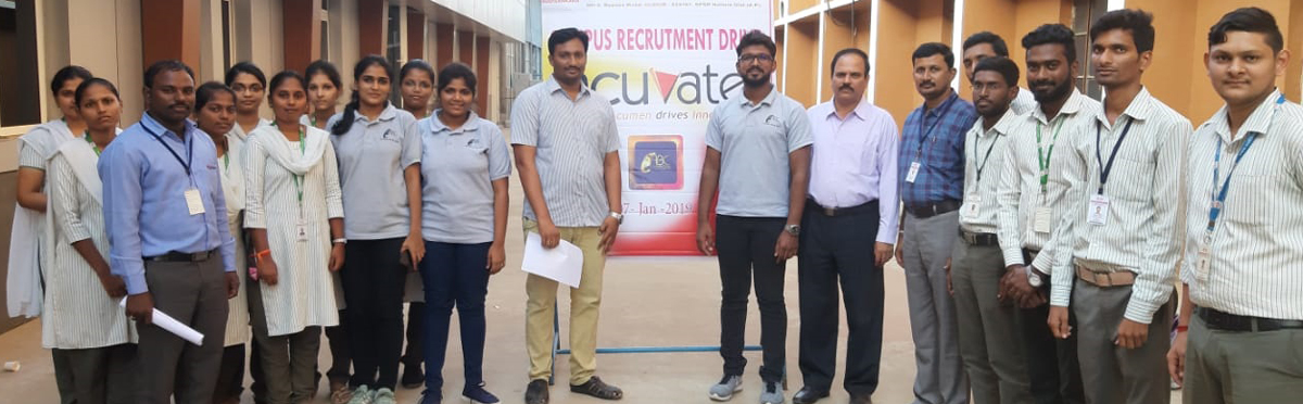 Acuvate conducts campus interviews for Audisankara Engg College students