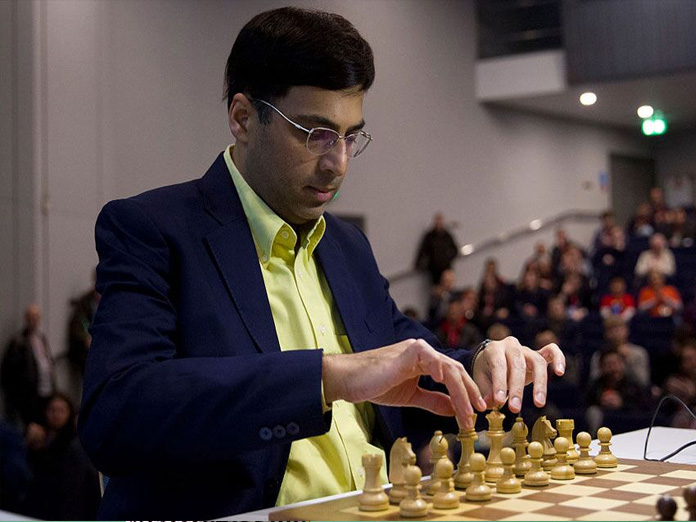 Anand on a roll beats Mamedyarov, shares lead with Carlsen