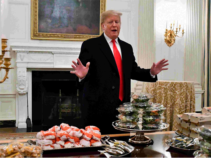 Trump hosted fast-food dinner for college football team