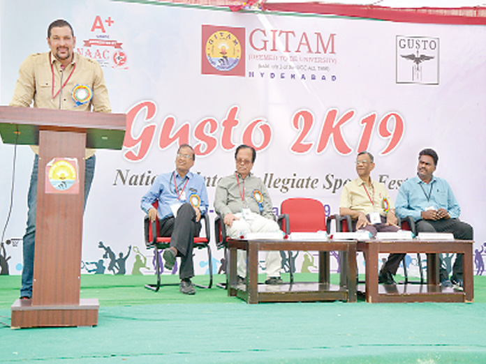 Sports fest inaugurated at GITAM