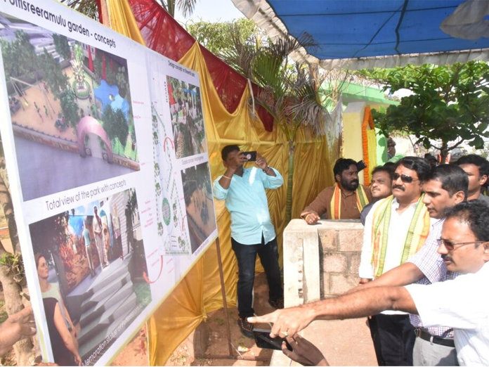 Stone laid for road widening works in Bheemili