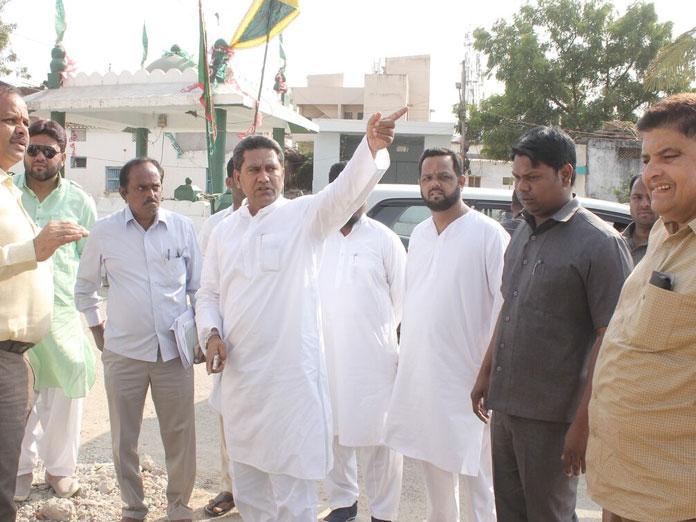Karwan MLA inspects development works
