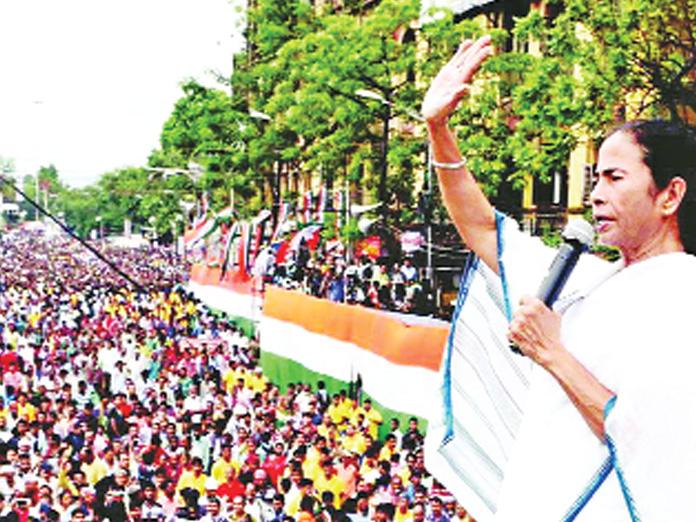 TMC says its mega rally will sound BJP
