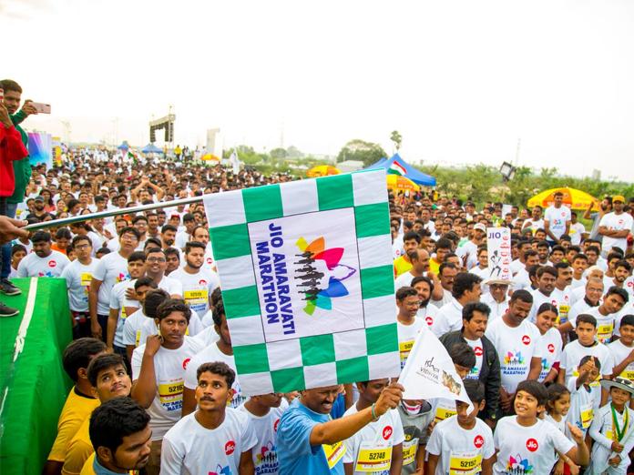 5,000 take part in Jio Amaravati Marathon in Vijayawada