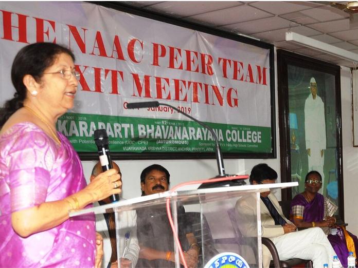 NAAC team visits KBN College in Vijayawada