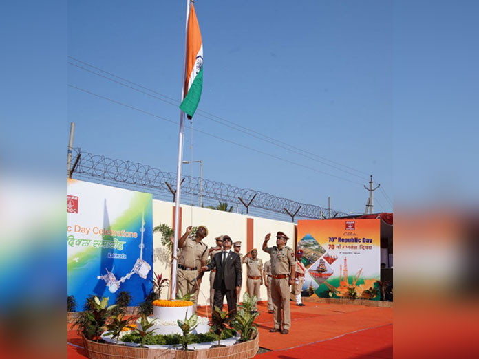 ONGC staff celebrate R-Day with patriotic fervour