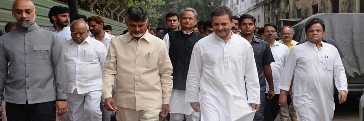 Chandrababu Naidu, Rahul Gandhi discuss plans to forge alliance