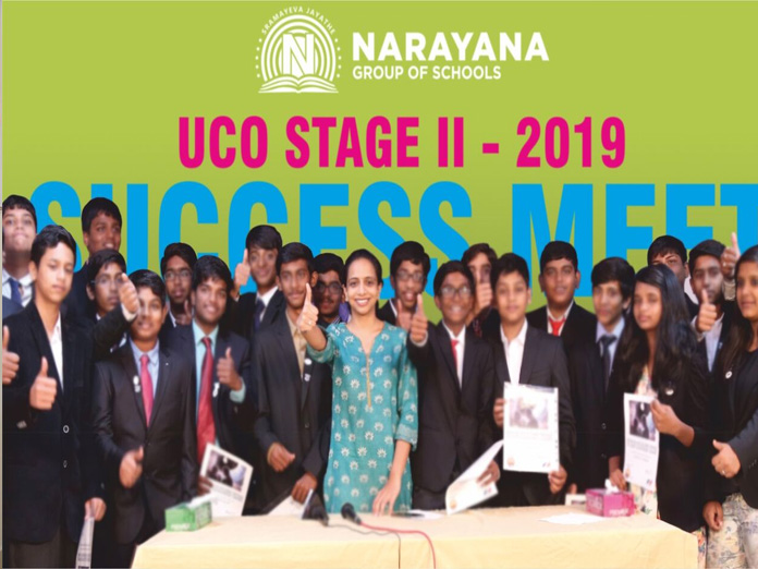 Narayana schools emerge as national topper in Uco-2019