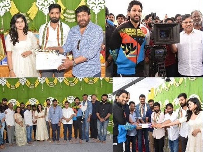 Chiranjeevi Grace the Launch of Panja Vaisshnav Tej's Debut Movie