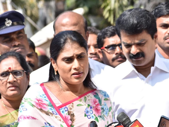 YS Sharmila files complaint on Janasena activists to Hyderabad CP