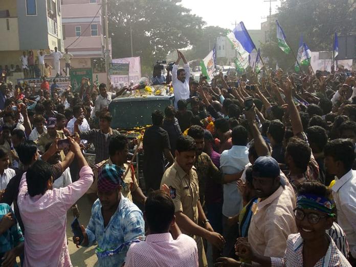 Jagan gets rousing welcome in Kadapa
