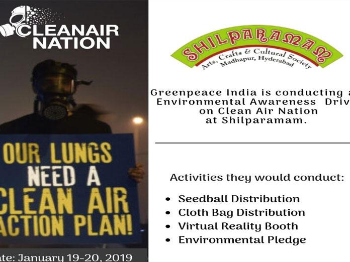 Clean air drive at Shilparamam