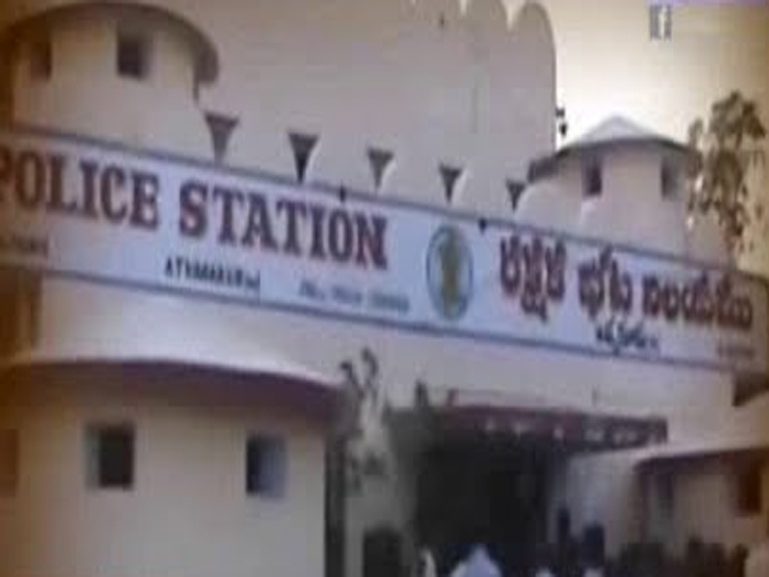 Farmers stage protest in front of Atmakur police station