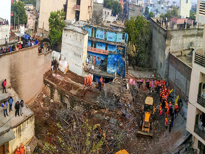 Gurugram building collapse: Rescue ops called off