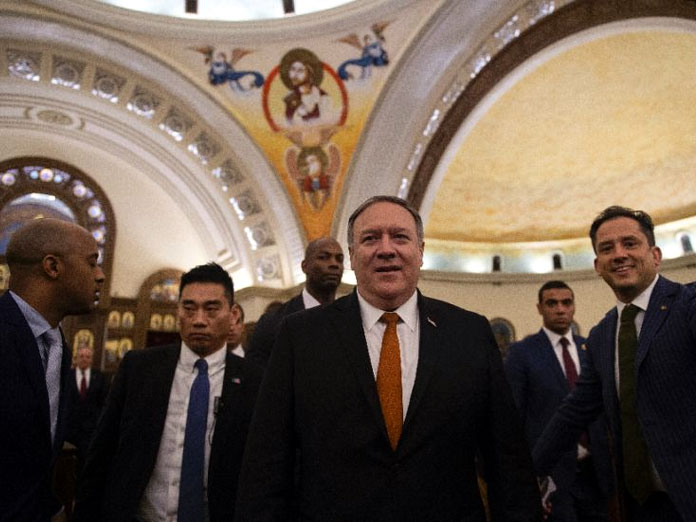 Pompeo praises Egypt freedoms during church, mosque visit