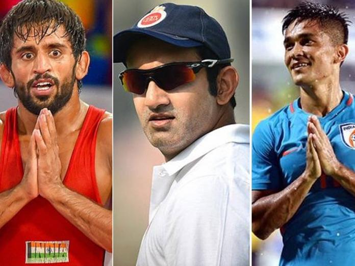 Gambhir, Chhetri and Punia show gratitude after winning Padma Shri