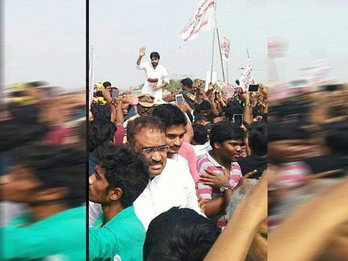 Grand welcome to Pawan Kalyan