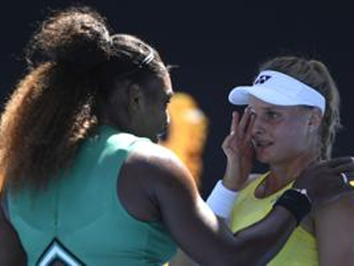 Dont cry: Serena overwhelms, comforts opponent at Australian Open