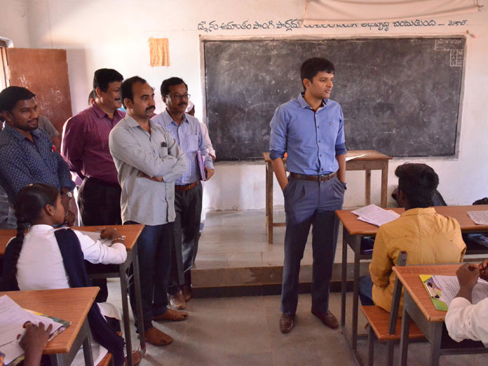 Collector makes surprise check at govt school