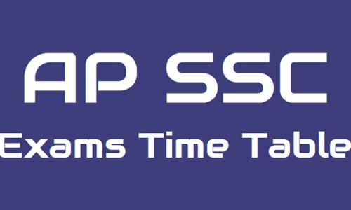 AP SSC 2019 exam schedule released