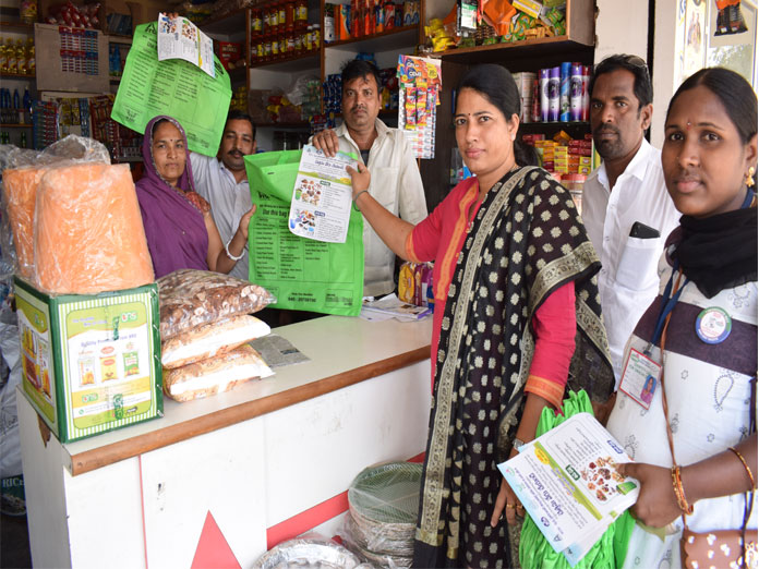 Jute bags distributed to residents