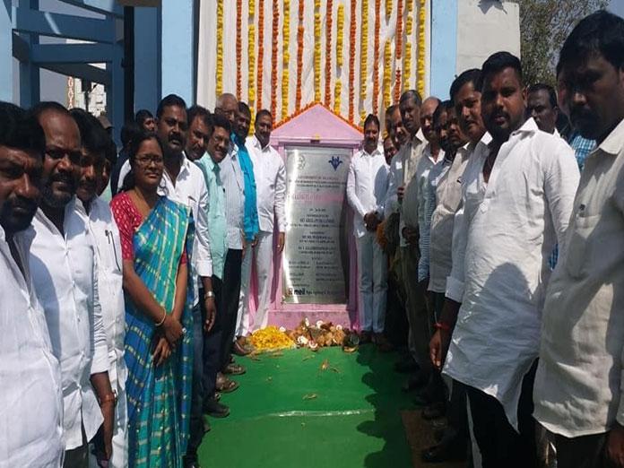 Arekapudi inaugurates water reservoir