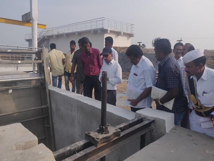 Mini Ravindra Bharathi works on track