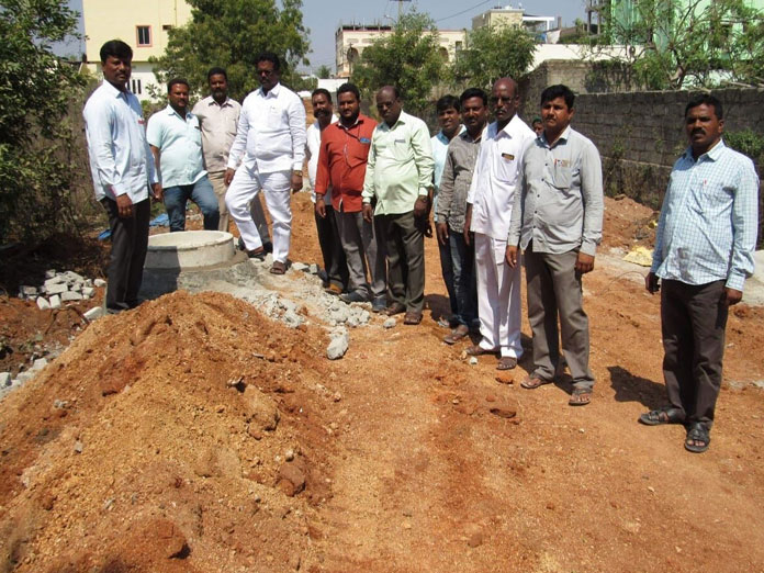 Corporator inspects drainage works