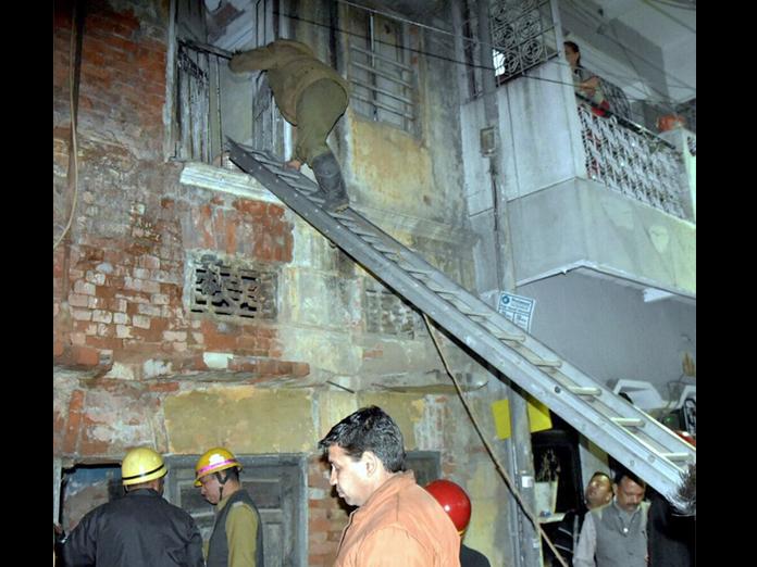Part of dilapidated building collapses in Delhi