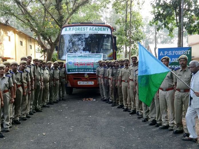 Forest officers study tour begins in Rajamahendravaram