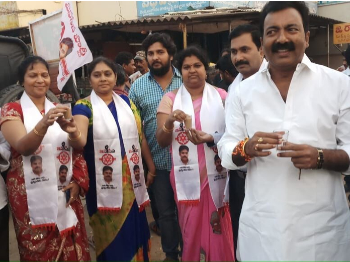 Poll campaign by JSP activists