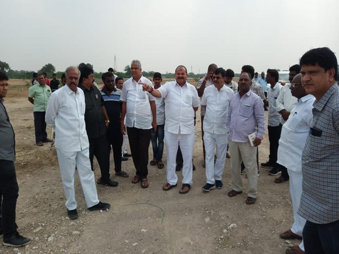 Kanna Lakshminarayana inspects Narendra Modi meeting arrangements