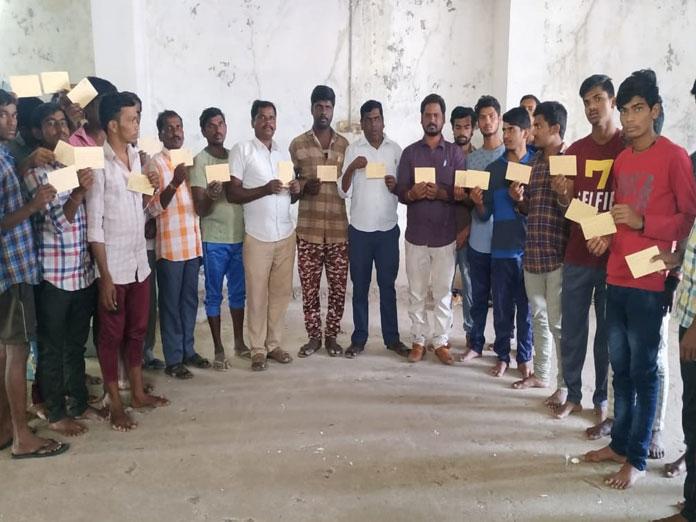 Postcard agitation for upgrading Jadcherla into revenue division