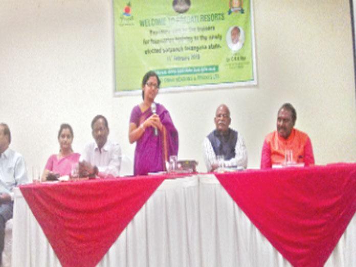 Make Sarpanches aim at overall village development