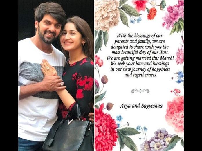 OMG – Superstar Arya is Getting Married To Sayyeshaa – Confirmed