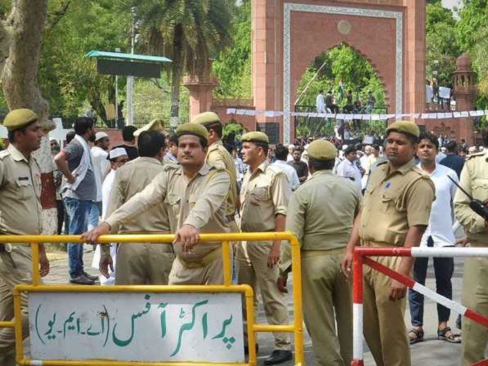 Security beefed up at AMU after altercation between students, TV crew over Asaduddin Owaisi event