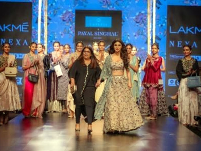 Payal Singhal's Fusion Collection Is Presented by Caprese At Lakme Fashion Week